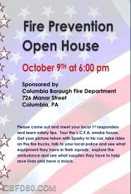 Open House is October 9th.