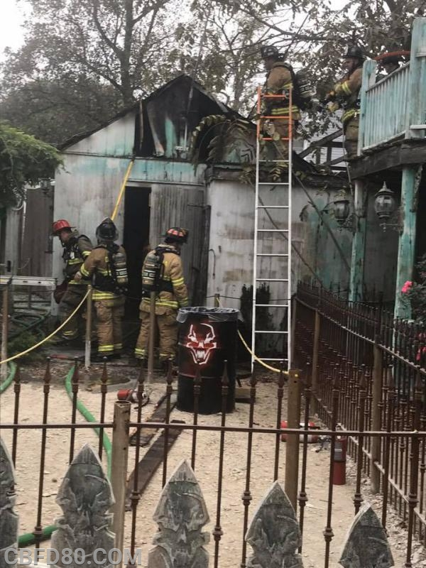 Crews Working at Field of Screams Fire