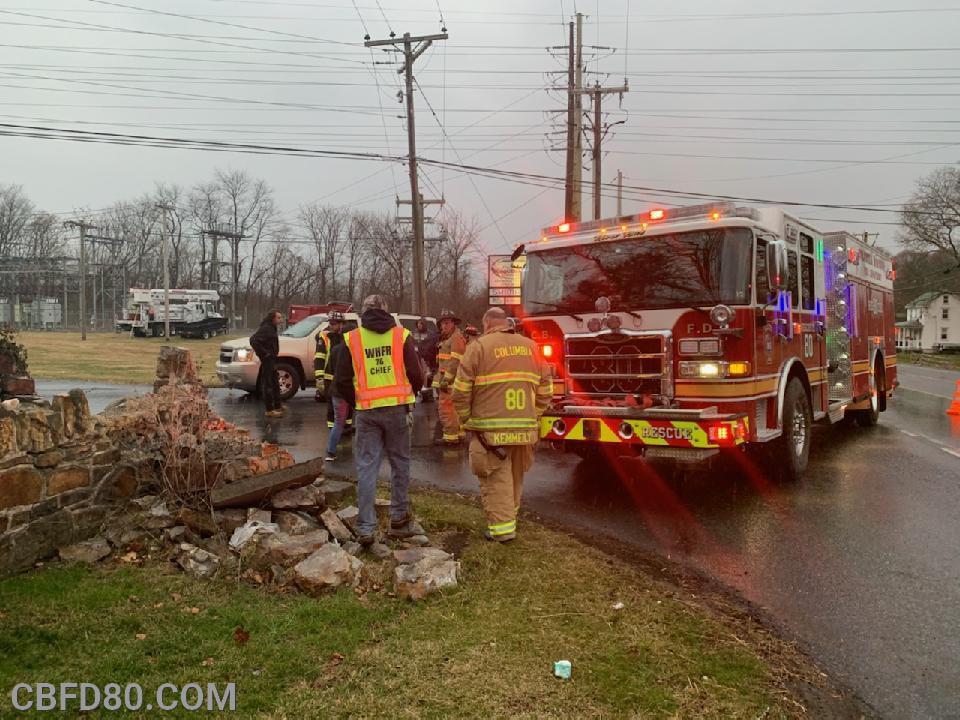 Rescue 80 at Columbia Avenue Crash
