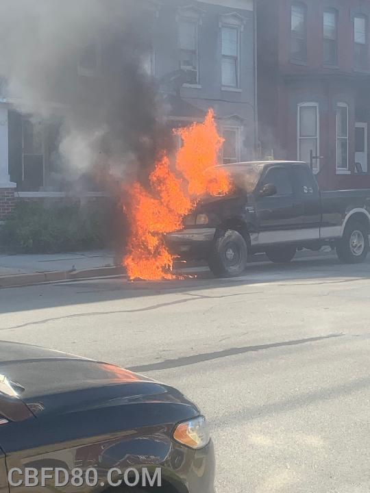 Vehicle Fire on Poplar Street