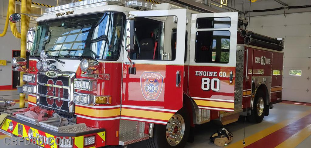 Engine 80 at York County Station 89-1