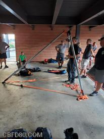 Members at Rope Rescue Training at LCPSTC