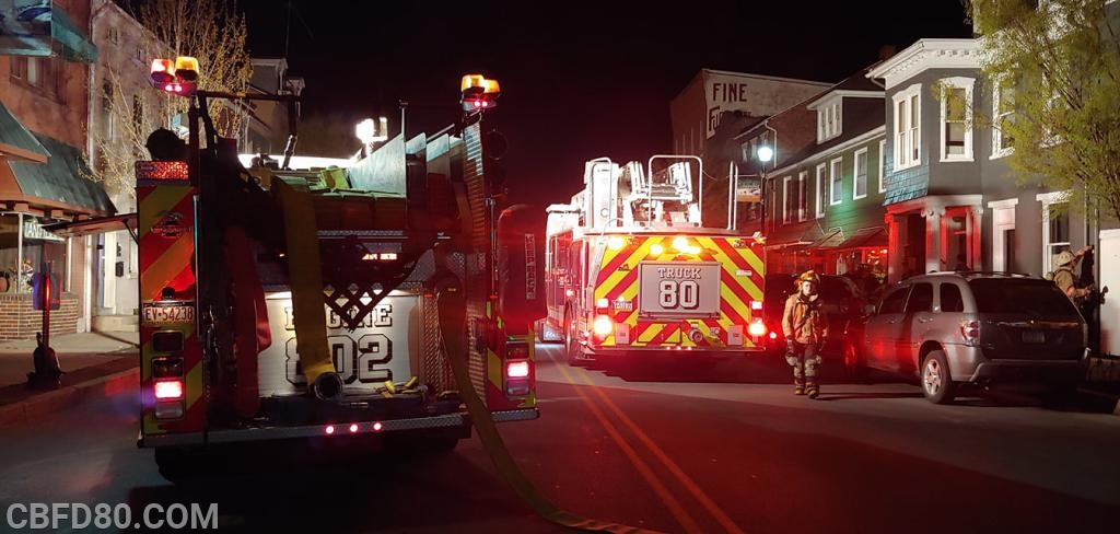 Apartment Fire on Locust Street